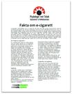 Fakta om e-cigarett